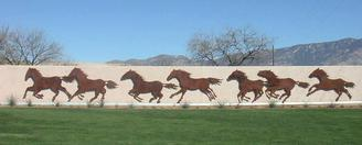 Metal Art Cut Outs of Horses